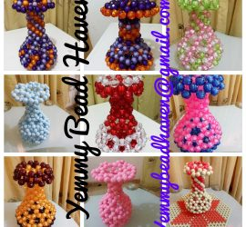 Beaded Flower vases