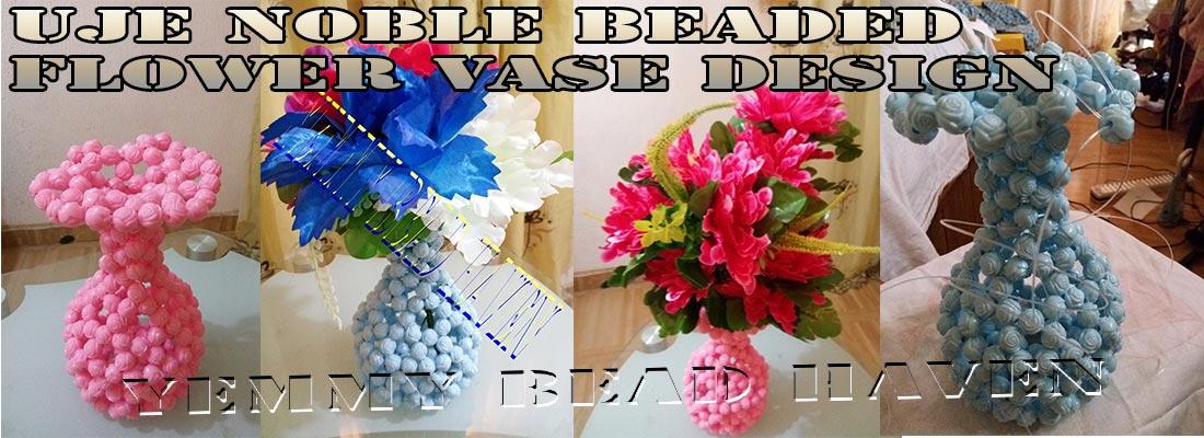 BEADED FLOWER VASE TUTORIAL UJE NOBLE DESIGN