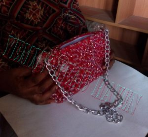 chain handle for beaded purse